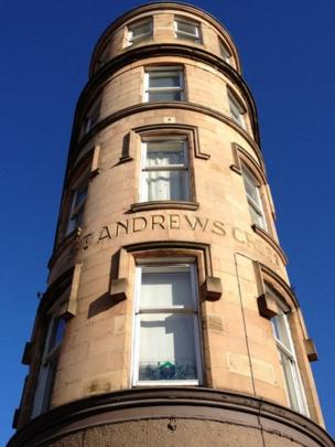 St Andrews Cross building at Eglinton Toll in Glasgow