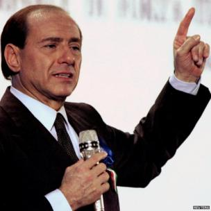 Silvio Berlusconi campaigns for election, 25 March 1994