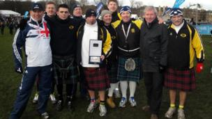 Members of East Kilbride Athletics Supporters Club
