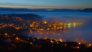 Fog over Gourock