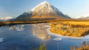 Buachaille Etive Mor and the River Etive
