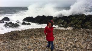 Abby on the beach