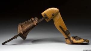 Wooden leg. Credit: Science Museum, Brought to Life exhibit