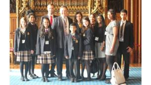 Burlington Danes Academy students stand in the House of Lords