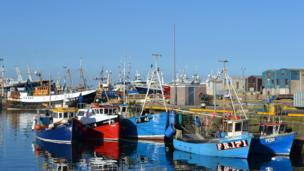Fishing boats in Fraserburgh