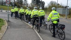 Police on bicycles