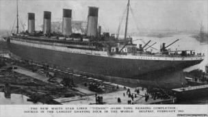 Titanic docked in Belfast before it headed to Southampton