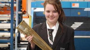 Finally the torch is coated with its special gold-coloured finish