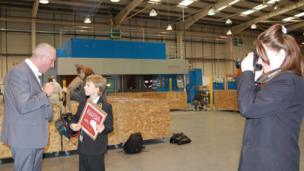 Whitley Academy students Jamie and Chloe visited Premier Sheet Metal in Coventry to see how the Olympic torch is being made