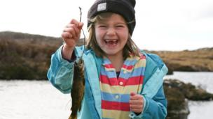 Ruth caught her first trout