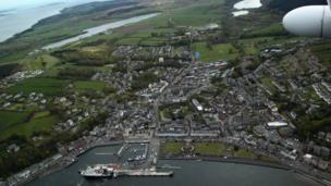 Aerial view of Rothesay
