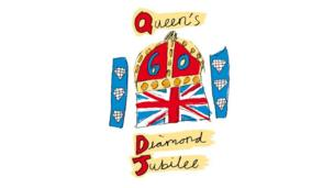 The Queen's Diamond Jubilee logo, designed by a Blue Peter viewer.