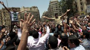Egyptians react to the news of the verdicts in Cairo.