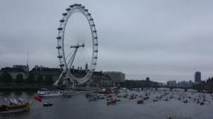 Flotilla and London Eye in background