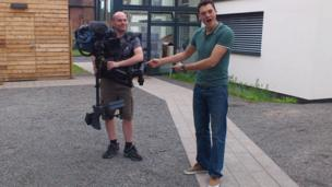 Joe gets very excited about Marty's camera!