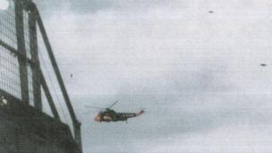 Photo of UFO near helicopter