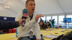 BBC journalist Tom Fordyce talks to the School Reporters
