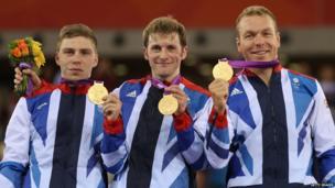 Philip Hindes, Jason Kenny and Chris Hoy