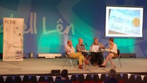 Ian Rowlands, Gwion Hallam, Peredur Lynch a Siân Melangell Dafydd