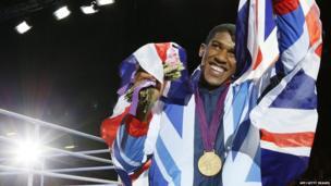Super heavyweight boxing champ Anthony Joshua