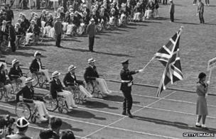 Equipo británico en los Paralímpicos en 1964