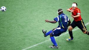 Fútbol de ciegos: Brasil Vs España en los Juegos Paralímpicos Beijing 2008