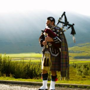 John Low from Irvine took this striking image of a piper near Bridge of Orchy in Argyll.