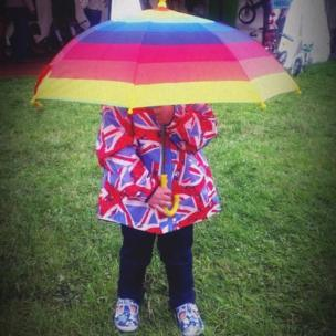 Catherine Hillock sent in this shot of her great niece Emilene sheltering from the rain, taken at Blair Atholl horse trials.