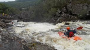 More than 250 kayakers from across the UK took part in the Wet West Paddlefest in Invermoriston and Invergarry. Image by Kirstie Macmillan