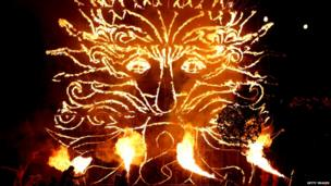 Flame face pyrotechnic
