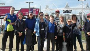 Outside the Olympic Park