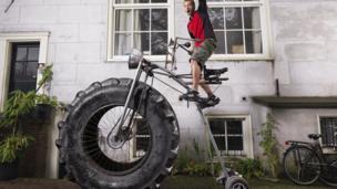World's heaviest bicycle.