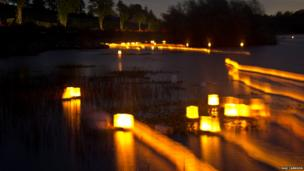 Lakes of Light event on Killyfole Lake