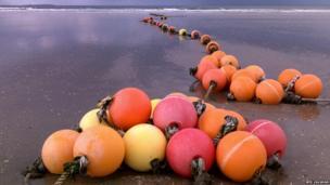 Beached buoys