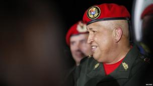 Venezuela's President Hugo Chavez arrives back from Cuba at Simon Bolivar national airport in Maiquetia outside Caracas August 14, 2011. Chavez returned from chemotherapy treatment in Cuba to treat a cancer that has called into question his fitness to run for re-election