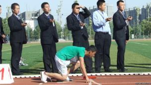Timing an athletics meet