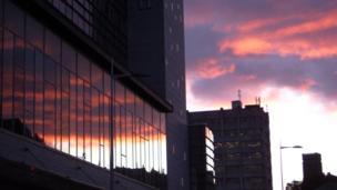 Sunset over Aberdeen