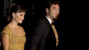 Javier Bardem with his wife Penelope Cruz.