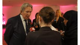 School Reporters interview John Dickie who entered seven events into the Jubilee Time Capsule