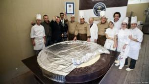 The largest chocolate coin