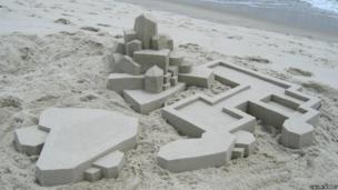 Sandcastle made by Calvin Seibert