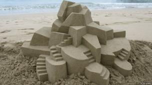 Sandcastle made by Calvin Seibert