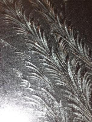 Frost on a windscreen