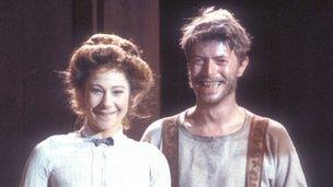 David Bowie and Zoe Wannamaker