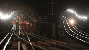 Engineers look at Underground lines.