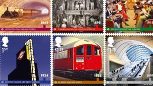 Commemorative stamps.