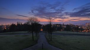 Dawn over Queen's Park, Glasgow