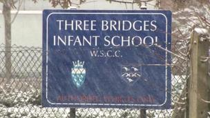 Three Bridges Infant School sign