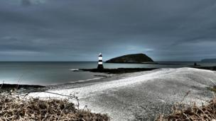 Dr Dafydd Williams submitted this HDR photo is of the lighthouse at Penmon, Anglesey, with Puffin Island (Ynys Seiriol) in the background.