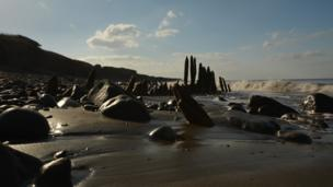 James Hopkins took this photo of Llanrhystud beach near Aberystwyth while walking along the coast path.